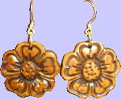 Bone Flower Earrings