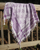 Purple Dancing Bear Scarf