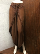 Mocha Faux Wrap Pants