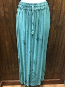 Teal Stonewashed Long Skirt