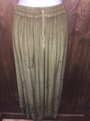 Taupe Stonewashed Long Skirt