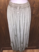 Arctic Gray Stonewashed Long Skirt