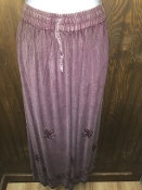 Mauve Stonewashed Long Skirt