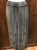 Charcoal Stonewashed Long Skirt