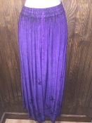 Purple Stonewashed Long Skirt