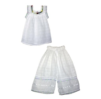 Childrens Gasa Tank/Pants Set