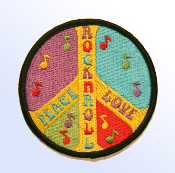 Peace Love and Rock n Roll Patch