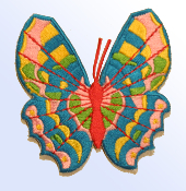 Pink and Blue Butterfly Patch
