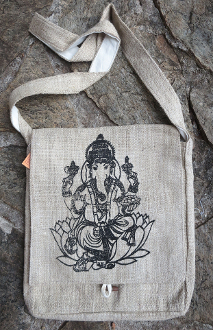 Ganesha Hemp Satchel