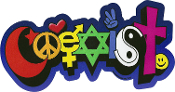 Coexist w/ Colorful Symbols