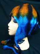 fleece lined- tye dyed winter hat