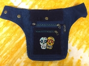 Sugar Skulls Corduroy Hip Bag