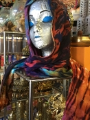 Reversible Tie Dyed Hood / Scarf with Pockets!